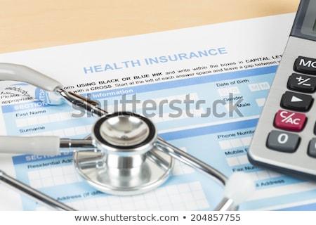 Seguro crisis salud gobierno Foto stock © Lightsource
