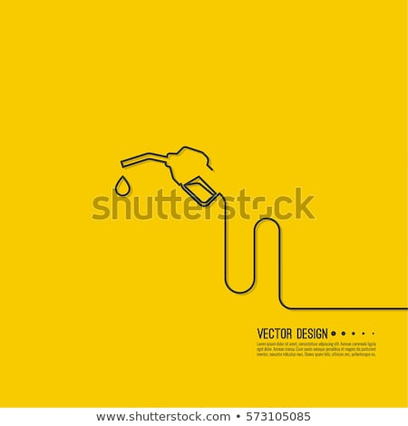Stock fotó: Gasoline Nozzle Vector Illustration