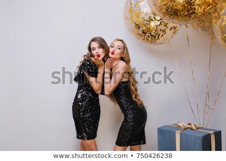 Two women in fancy dress Stock photo © Pilgrimego
