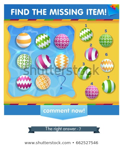 Find the missing item Ball summer Stock photo © Olena