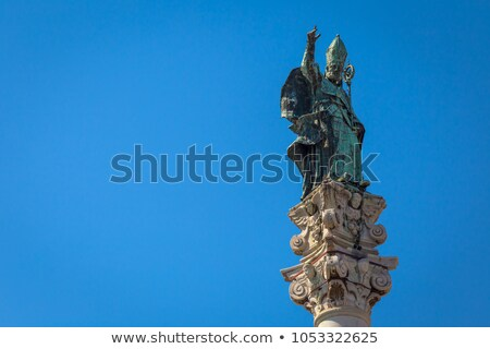 Santo Oronzo column in Piazza Santo Oronzo square. Lecce, Italy. Stock photo © Photooiasson