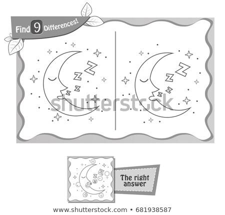ゲーム 見つける 違い 月 子供 大人 ストックフォト © Olena