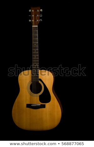 The old classical guitar   on black  background. stock photo © Valeriy