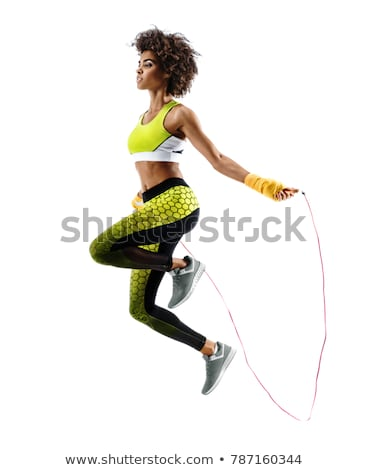 vrouw · touw · gymnasium · fitness · gezondheid · gezonde - stockfoto © monkey_business