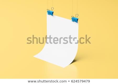 Stock fotó: Szórólap · poszter · vázlat · 3D · renderelt · kép · papír