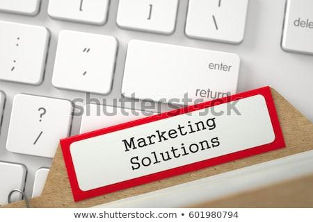 Card Index with Inscription Marketing Research. 3D. Stock photo © tashatuvango