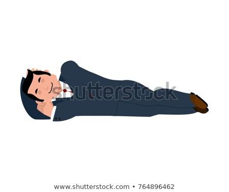 бизнесмен спальный изолированный Boss спящий служба Сток-фото © popaukropa