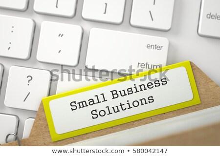 Carte petit commerce solutions mot dossier fichier Photo stock © tashatuvango