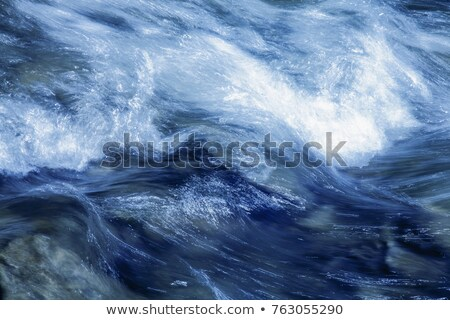 lange · blootstelling · shot · streaming · water · stenen · rivier - stockfoto © Mps197