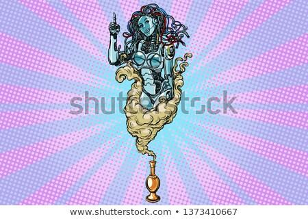 女性 ロボット 精霊 ランプ ポップアート レトロな ストックフォト © studiostoks