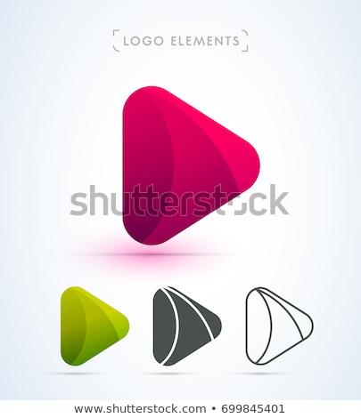 Medya oynamak logo vektör basit modern Stok fotoğraf © krustovin