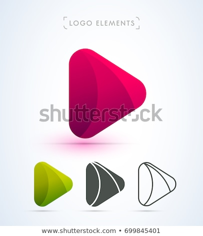 Media play logo vector simple modern concept Stock photo © krustovin