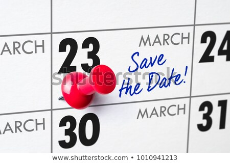 Wall calendar with a red pin - March 23 Stock photo © Zerbor
