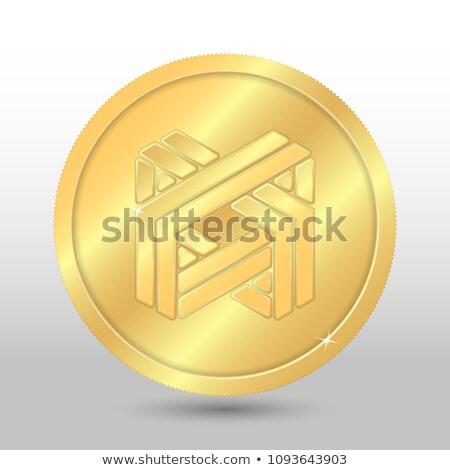Luxcoin - Virtual Currency Coin Illustration. Stock photo © tashatuvango