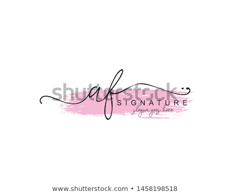 f letter signature logo Stock photo © meisuseno