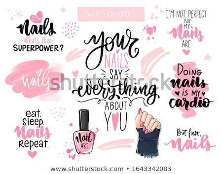 cute nail polish template vector illustration stock photo © robuart