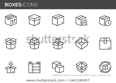 Packing box on scales vector icon Stock photo © studioworkstock