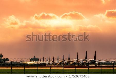 商業 飛行機 軍事 機 実例 背景 ストックフォト © bluering