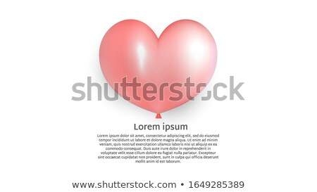 Happy Valentines Day Illustration with Red Hearth on Shiny White Background. Vector Wedding and Love Stock photo © articular