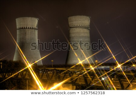 cooling towers by a motorway stock photo © is2