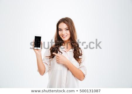 счастливым · цифровая · камера · фотография · женщину · девушки - Сток-фото © lightfieldstudios