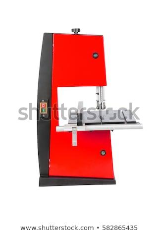 Serra isolado banco ferramenta branco mão Foto stock © popaukropa