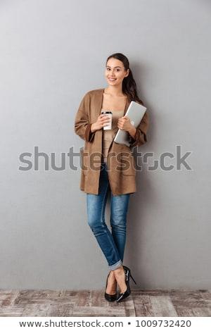 mujer · de · negocios · pensamientos · negocios · feliz · resumen · modelo - foto stock © hsfelix