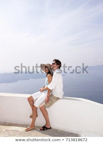 Zdjęcia stock: Para · niski · ściany · morza · widoku