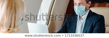 Empresário negócio céu avião Foto stock © IS2