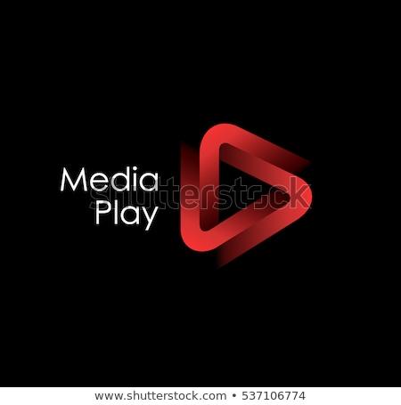 Abstrakten Dreieck logo kreative Medien spielen Stock foto © krustovin