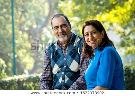 Viejos indio hombre mujer pie junto Foto stock © vectorikart