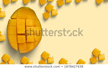 Can of tropical mango pulp Stock photo © bluering
