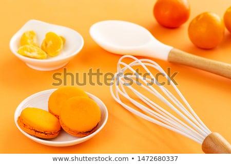 Kanál hámozott mandarin narancs trópusi desszert Stock fotó © Digifoodstock