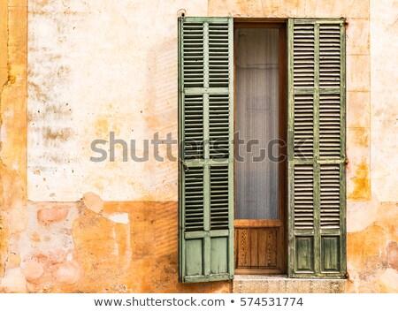 naranja · pared · edad · antigua · italiano - foto stock © lubavnel