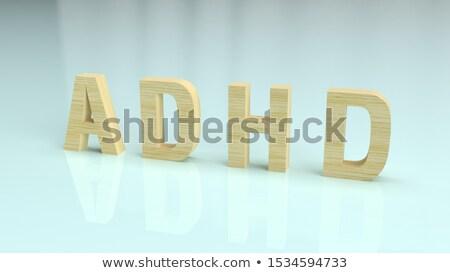 ADHD - Medicine Concept. 3D rendering Stock photo © tashatuvango