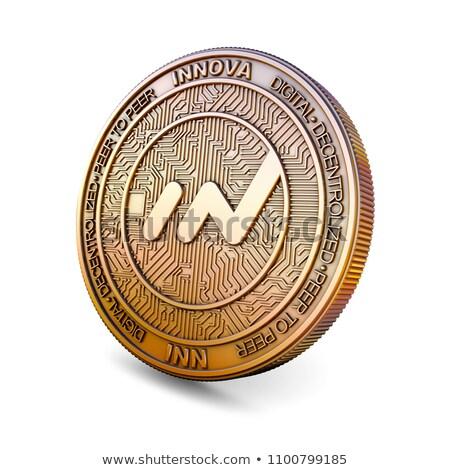 Innova - Cryptocurrency Coin. 3D rendering Stock photo © tashatuvango
