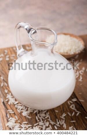 Frescos arroz leche vidrio lactosa dieta Foto stock © Melnyk