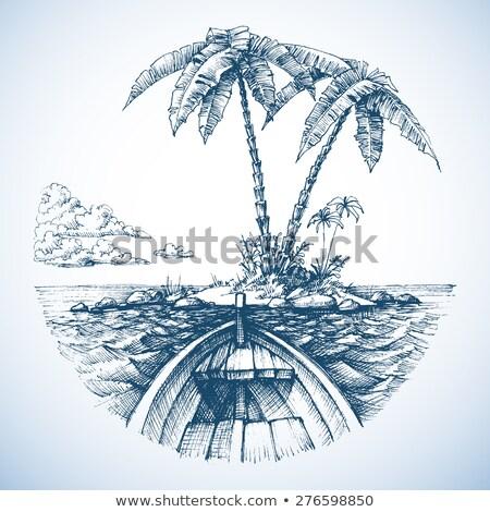 Tropical Palmtree Vintage Banner Stock photo © THP