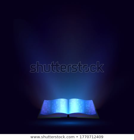 the book shines, light of knowledge Stock photo © rogistok