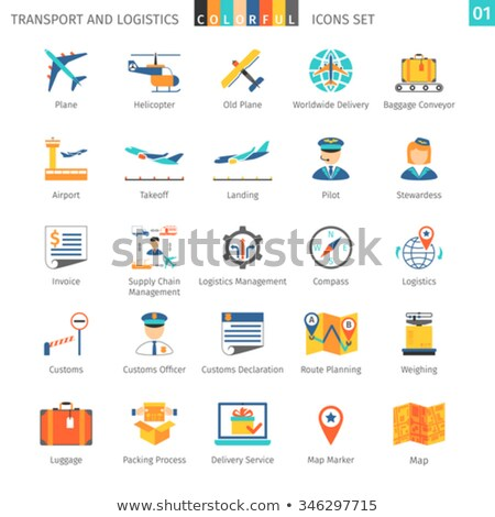 Transport and logistic icons 01 Stock photo © Genestro