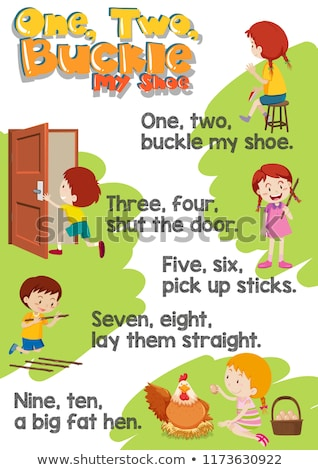 One two buckle my shoe poster Stock photo © bluering