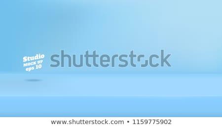 blue studio background with podium Stock photo © SArts