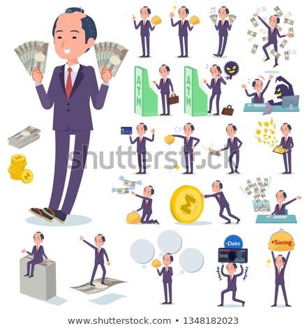 japanese samurai Businessman_money Stock photo © toyotoyo