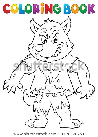 Coloring book werewolf topic 1 Stock photo © clairev