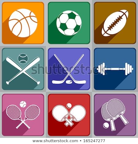 Conjunto diferente ping-pong isolado branco esportes Foto stock © DeCe
