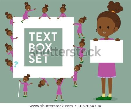 Typu uczennica polu zestaw wiadomość puszka Zdjęcia stock © toyotoyo