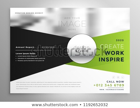 business brochure design in green and black shade stock photo © sarts