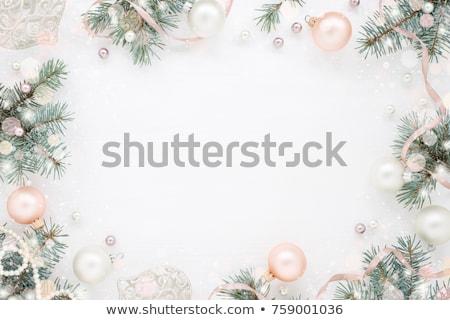 Elegante árbol de navidad pastel decoración alegre Foto stock © isveta