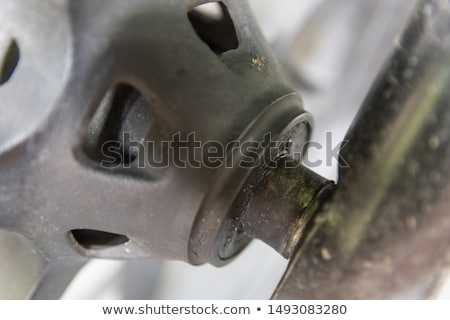Lubricating motorcycle wheel bearings Stock photo © homydesign