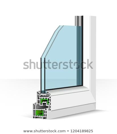 3D plastikowe okno profil biały budynku Zdjęcia stock © m_pavlov